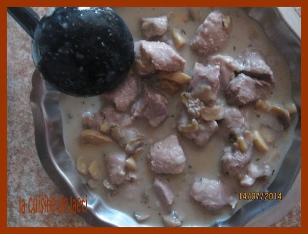 Sauté de porc au vin blanc