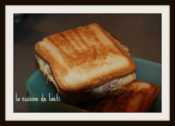 Croque monsieur fa on flamenckoeche - Croque monsieur au four creme fraiche ...